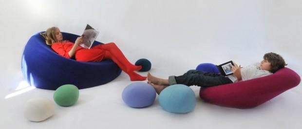 Nenuphares kolorowe siedziska design puf designe for Mural dziewczynka z konewka
