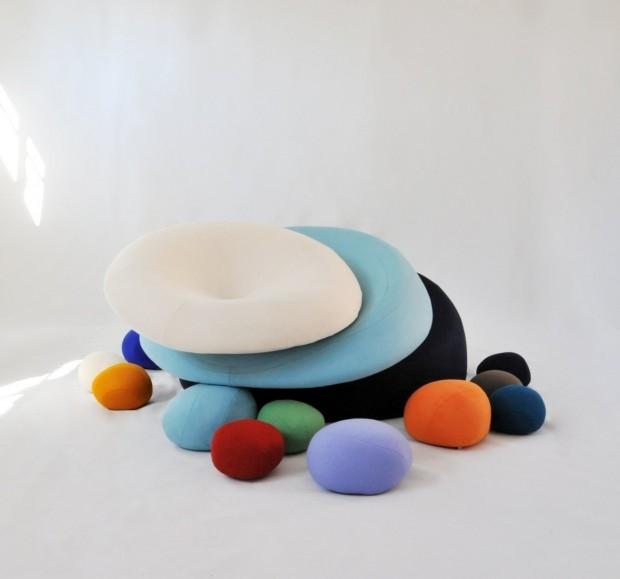 Nenuphares - kolorowe siedziska - design, puf