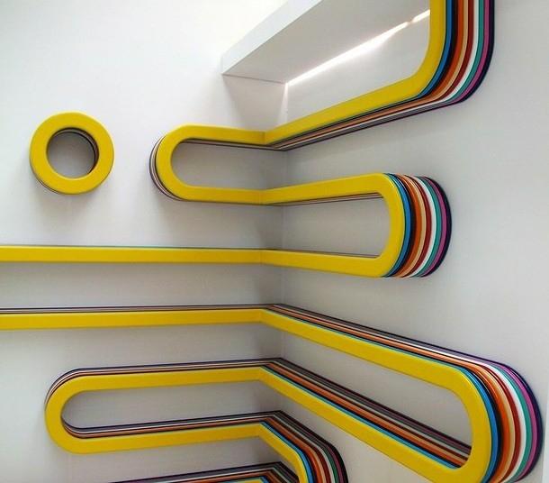 Wijąca się półka - design, półka