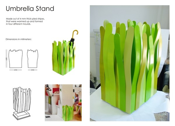 Stojak na parasolki - design, stojak