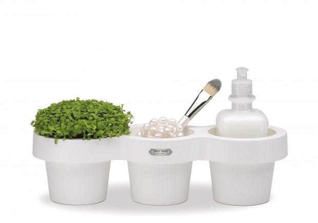 Potrójna donica na zioła - design, doniczka