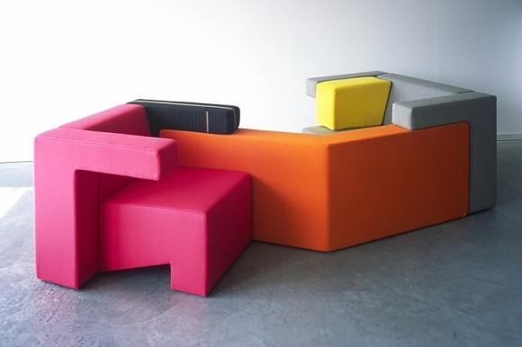 Full size Tetris - design, fotel