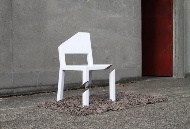 Pocięte krzesło - design, krzesło