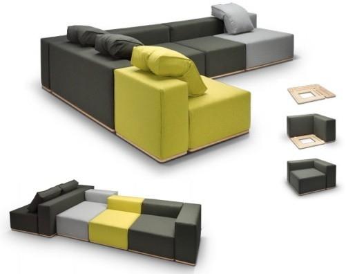 System modułowy Cubes - design, sofa