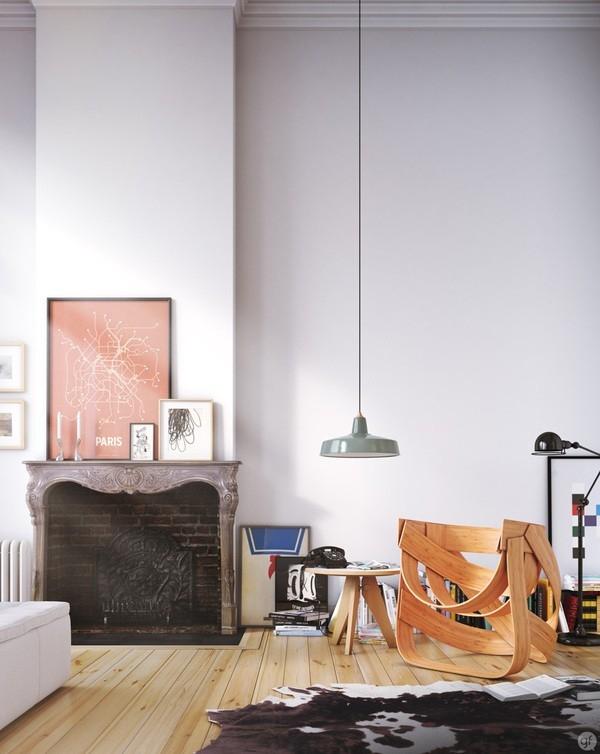 Bamboestoel - powyginana sklejka - design, krzesło