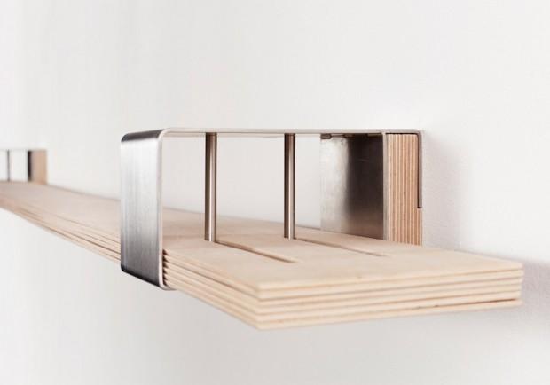 Chuck - półka kształtowana książkami - design, półka