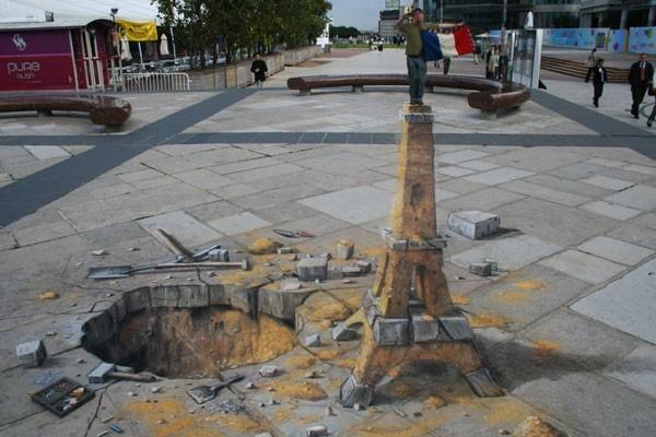 Chodnikowe dzieła sztuki - Julian Beever - sztuka