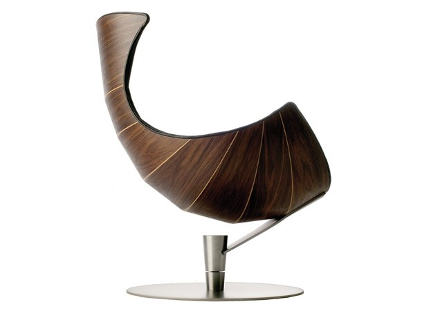 Krzesło Lobster - drewno i skóra - design, krzesło