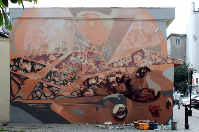 Sztuka uliczna - Robert Proch - sztuka, mural