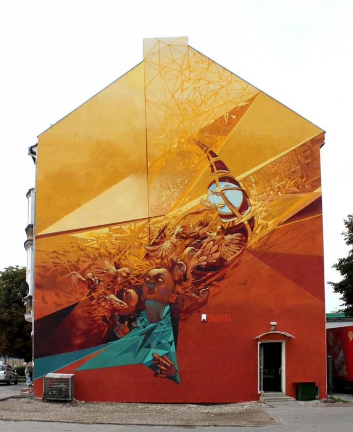 Sztuka uliczna robert proch sztuka mural designe - Meilleure marque peinture ...