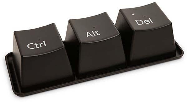 Ctrl, Alt, Delete - kubki jak klawisze - gadżet, kubek