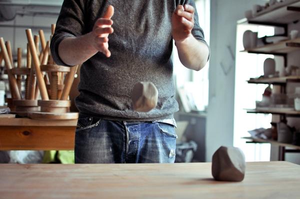 Rock set - porcelana jak kamienie - design, naczynie