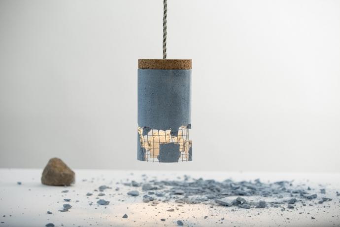 Betonowa lampa od Ubikubi - zrób to sam