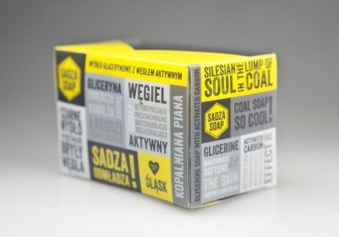 Sadza Soap, bryła węgla czy czarne mydło - gadżet, mydło w kostce