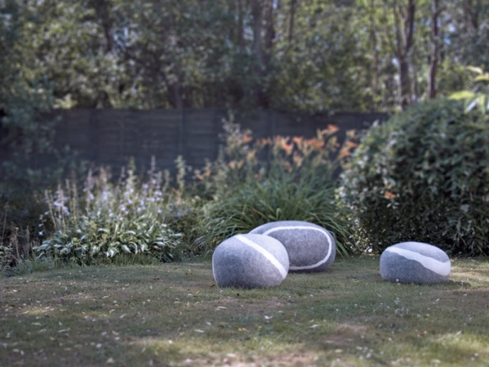 Pufy jak kamienie od fivetimesone - design, puf