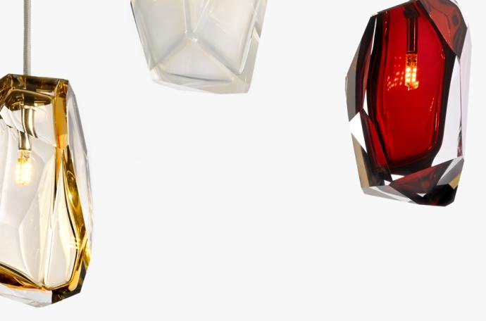Crystal Rock - świecące kryształy - design, lampa