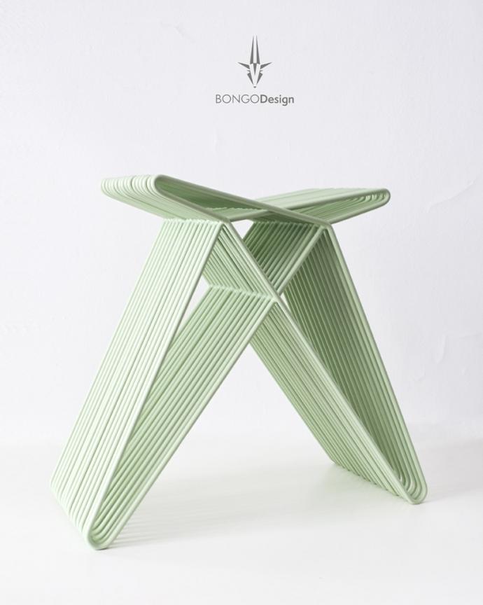 Heavy Rabbit, stalowe pręty inaczej - design, stołek
