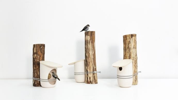 Budka i karmnik dla ptaków Mikko - design, karmnik dla ptaków