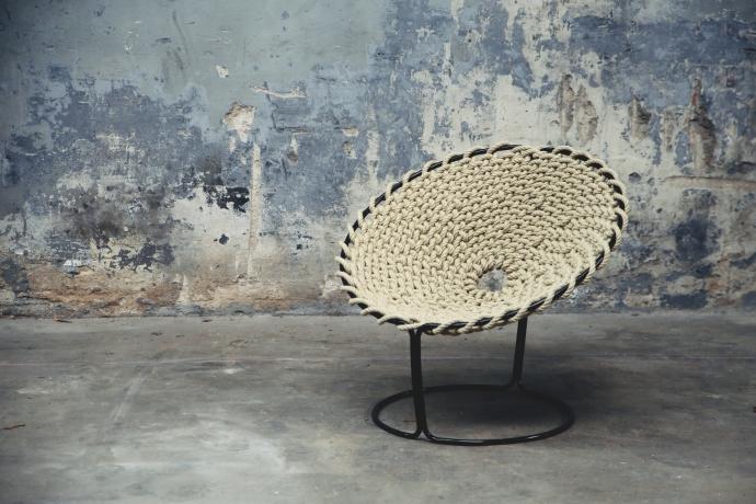 Femme Chair, krzesło inspirowane węzłami - design, krzesło
