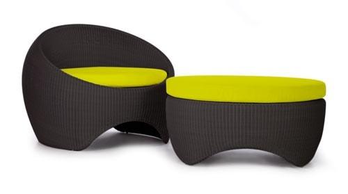 Nowoczesna wiklina - design, fotel