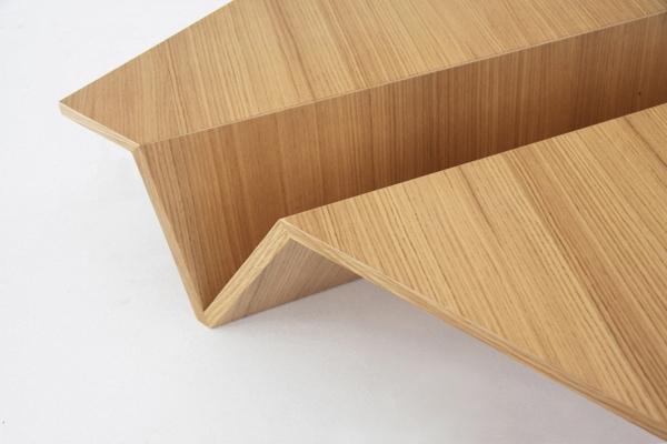Stół inspirowany japońską sztuką origami - design, stół