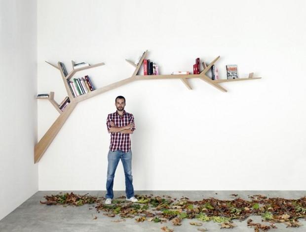 Półki w drzewie - design, półka