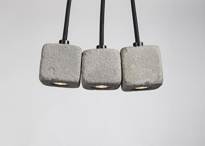 Designerska betonowa lampa wisząca