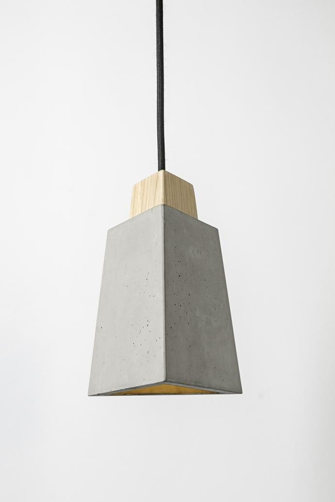 Nowoczesna betonowa lampa wisząca