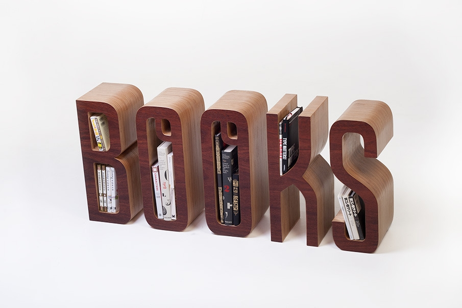 The Books Shelf - bardzo wymowny regał - design, regał