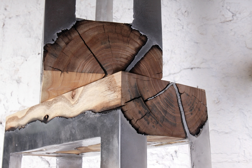 Wood casting - drewno i trochę ciekłego aluminium - 8