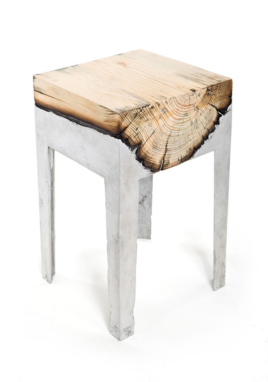Wood casting - drewno i trochę ciekłego aluminium - 10