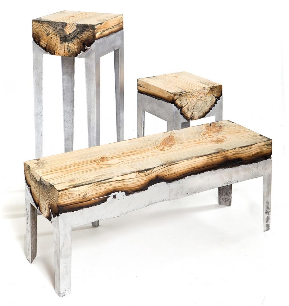 Wood casting - drewno i trochę ciekłego aluminium - 2