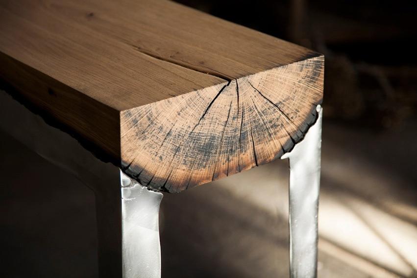 Wood casting - drewno i trochę ciekłego aluminium - 5