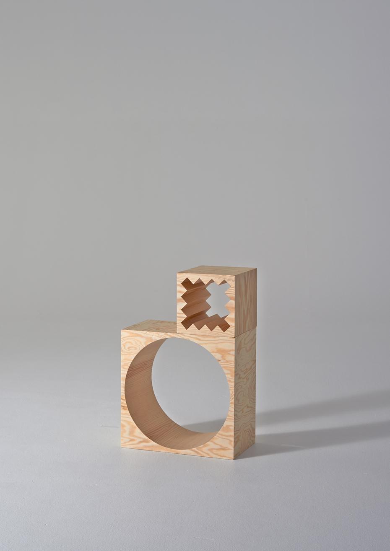 ROOM Collection - regał z drewnianych klocków - 10