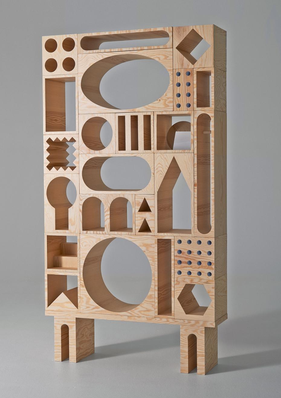 ROOM Collection - regał z drewnianych klocków - 2
