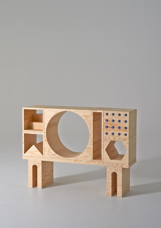 ROOM Collection - regał z drewnianych klocków - 3