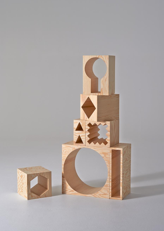ROOM Collection - regał z drewnianych klocków - 7