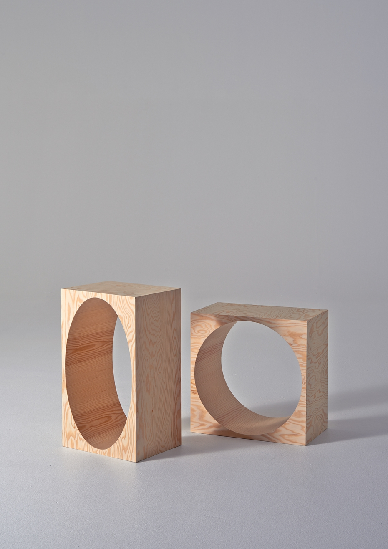 ROOM Collection - regał z drewnianych klocków - 8
