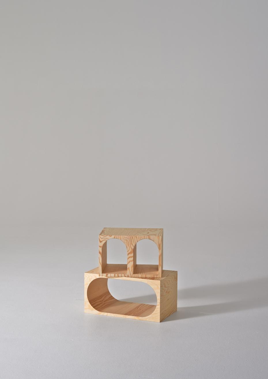 ROOM Collection - regał z drewnianych klocków - 9